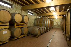 Ein alter Weinkeller in Montepulciano in Toskana Lizenzfreies Stockfoto