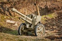Ein altes Artillerie-Gewehr lizenzfreie stockfotos