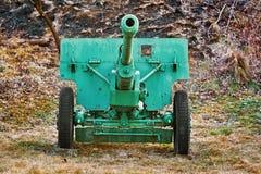 Ein altes Artillerie-Gewehr stockfotografie
