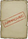 Ein altes Blatt Papier mit einem Stempel Lizenzfreie Stockbilder