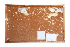 Ein altes braunes Anschlagbrett Stockbild