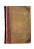 Ein altes Buch mit einem zerknitterten Blatt Stockbild