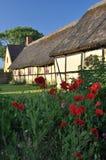 Ein altes dänisches Bauernhaus Lizenzfreies Stockfoto