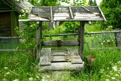 Ein altes gut im alten Dorf Stockbilder