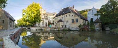Ein altes katholisches Kloster, das jetzt das Landesschule Pforta, Internatsgymnasium unterbringt Touristenort Sachsen-Anhalt, De stockfotografie