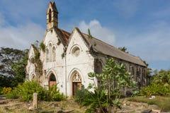Ein altes ruiniertes Kirchengebäude in Barbados Stockbilder