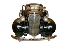 Ein altes schwarzes antikes Auto Stockbilder