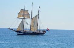 Ein altes Segelschiff Stockbild