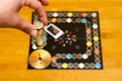 Ein altes Spiel hourglass lizenzfreie stockfotografie