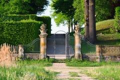 Ein Tor zum Park Lizenzfreie Stockbilder