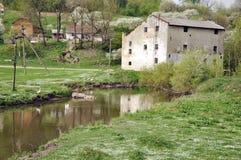 Ein altes watermill Stockfoto