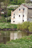Ein altes watermill Stockfoto