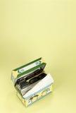 Ein altmodischer Rezept-Kasten Stockbilder