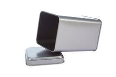 Ein Aluminiumkasten Stockfotografie