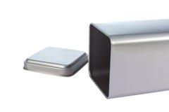 Ein Aluminiumkasten Stockfoto