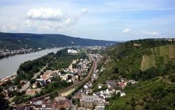 Ein Anblick von einem des Rheins zieht sich Wand zurück Lizenzfreie Stockfotografie