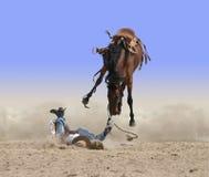 Ein anderer Cowboy beißt den Staub lizenzfreie stockfotografie