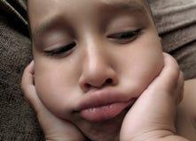 Ein anderer trauriger Junge Lizenzfreies Stockfoto