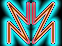 Ein anderes grelles Logo stock abbildung