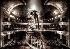 Ein Anstarrenpaar führen Liebesszenenshow in großartigem durch Stockbilder