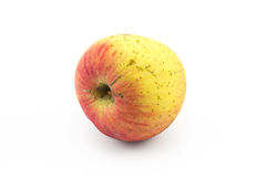 Ein Apfel auf lokalisiertem weißem Hintergrund Stockfotografie