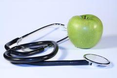 Ein Apfel ein Tag lizenzfreie stockfotos