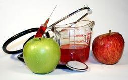 Ein Apfel ein Tag lizenzfreies stockfoto