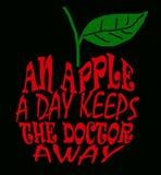 Ein Apfel ein Tag Lizenzfreie Stockfotografie