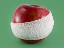 Ein Apfel ein Tag hält den Doktor weg Stockfoto