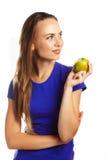 Ein Apfel ein Tag hält Doktor weg Lizenzfreie Stockfotos