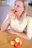 Ein Apfel pro Tag Stockfoto