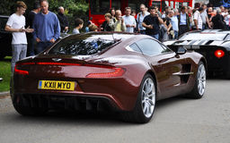 Ein Aston Martin One-77 Lizenzfreie Stockbilder