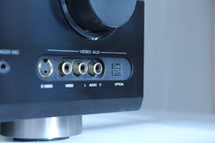 Audioverstärkerinput Lizenzfreies Stockbild