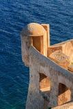 Ein Ausblickturm in der Zitadelle in Calvi, Korsika Lizenzfreie Stockfotos
