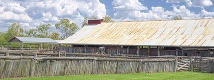 Ein australisches Woolshed lizenzfreie stockfotos