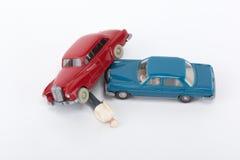 Ein Auto haben zusammengestoßen Lizenzfreies Stockfoto