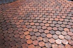 Ein Auto-volles von Pennys Stockfotos