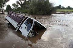 Ein Autounfall ertrunken Lizenzfreie Stockfotos