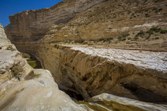 Ein Avdat in the Negev desert Royalty Free Stock Images