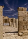 Ein Avdat Ruins of Nabatean city with uniqueness Byzantine Churc Royalty Free Stock Photos