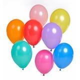 Ein Bündel bunte Ballone Lizenzfreie Stockbilder