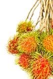 Ein Bündel des reifen Rambutan Stockfoto