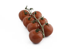 Ein Bündel rote Tomaten lizenzfreie stockbilder