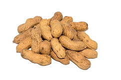Ein Bündel ungeschälte Erdnüsse Lizenzfreies Stockbild