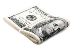 Gefaltet 100 US$ Rechnungen Stockfotografie