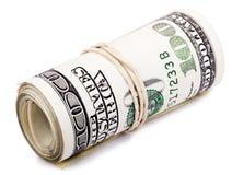 Rolle von 100 US$ Rechnungen Stockfoto