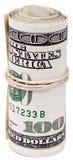 Rolle von 100 US$ Rechnungen Stockbild