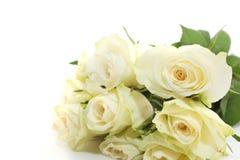 Ein Bündel weiße Rosen Stockfotos