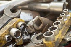 Ein Bündel Werkzeuge Lizenzfreies Stockfoto
