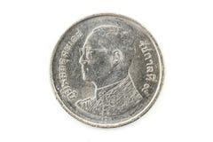 Ein-Baht-Münzen, Münze von Thailand Stockbilder